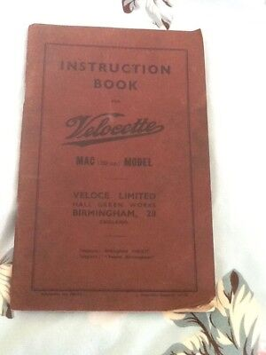 Instruction book for velocette mac 350cc model 900 instruction book for velocette mac 350cc model asfbconference2016 Gallery