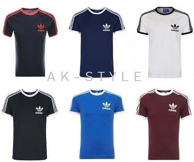 Mens Adidas Originals California T Shirt Crew Neck Sport Retro Tees S M L XL