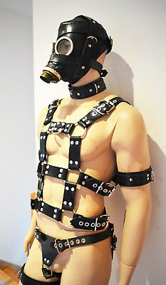 BlackRuBB Latex Harness Fullharness Rubber Maske Anzug Fesseln Bondage Harness