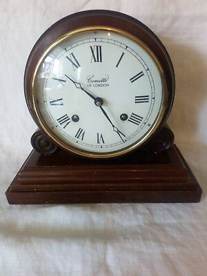 Vintage Wooden Mantle Clock Comitti Of London.. Spares Or Repair