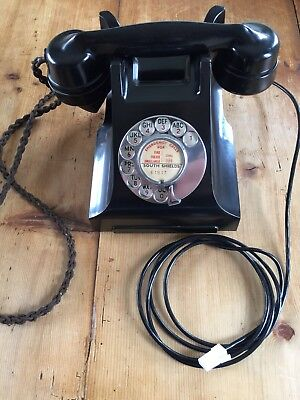 Lovely Old GPO Bakelte Telephone 1940s Fully Working!