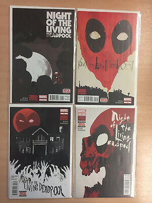Night Of The Living Deadpool #1-4 - Complete Mini Series!!!