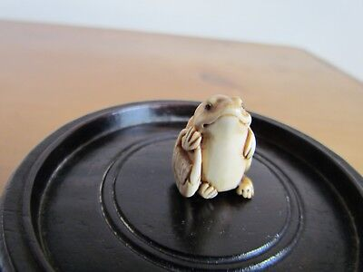 Antique Ojime Of An Unusual Frog, Signed