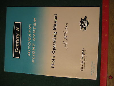Vintage EDO-AIRE Mitchell Century II Automatic Flight System Manual
