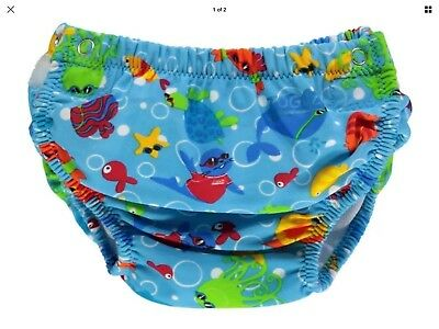Brand New Blue Baby Zoggs Swimming Nappy Age 3-24 Months Free Postage