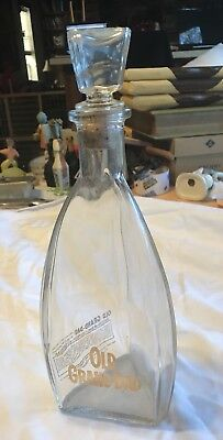 1953 Old Grand Dad Whiskey Bottle Triangular Stopper I Dream of Jeannie