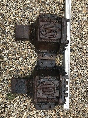 Two large Cast Iron Rainwater Hoppers