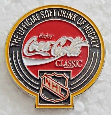 Coca Cola Official Soft Drink Of The Nhl Pin