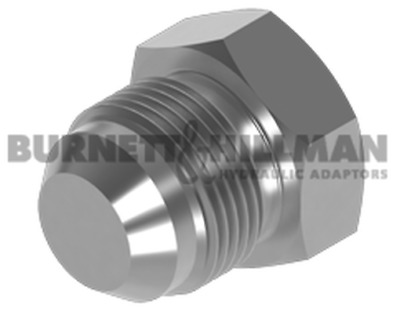 Burnett & Hillman JIC Solid Plug Hydraulic Fitting