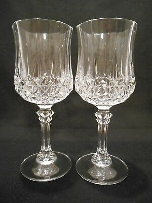 Set Of 2 Cristal D'arques Lead Crystal Pedestal Water Goblets - Stemware - Glass