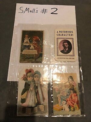 Lot of 1800's Victorian Advertising Cards Wanted Criminal and Children Chicago,