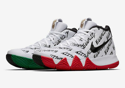 b926472a3d22c1 Nike Kyrie 4 BHM Equality Size 12.5. AQ9231-900. White Black Red Green