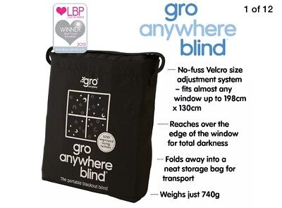The Gro Company Gro Anywhere Travel Baby Curtains Blackout Blind Fit Any Window