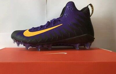 Nike Alpha Menace Pro Mid Footballschuhe | Currt Purple/ Gold/ | US:10/ Euro: 44