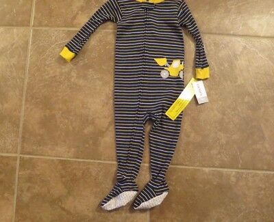 Carter's Toddler Boys One Piece Footed Sleeper Construction 18 Mo  24 Mo 4T New