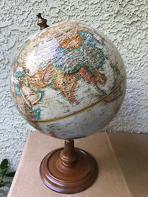 Vintage Replogle 9 inch relief world globe