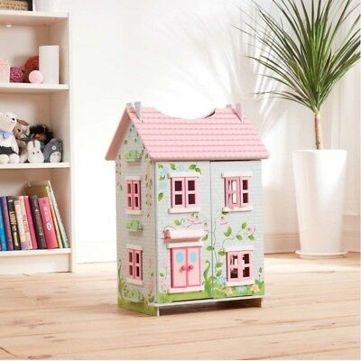 Teamson Kids- Fairytale Cottage dolls house with 7 Pieces of Furniture.