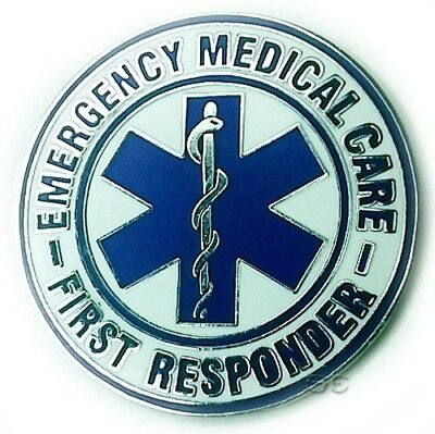 """Emergency Medical Services First Responder EMS Lapel Pin Large Round 1 1/2"""""""