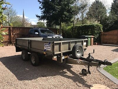 Ifor Williams Lt105 Twin Wheel Plant Drop Side Ramps Trailer Tractor mini digger
