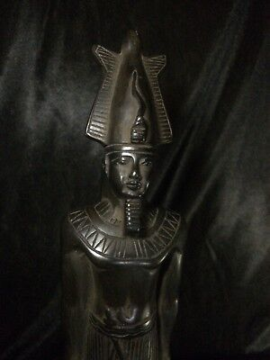 EGYPTIAN PHARAOHS ANTIQUITIES KING Osiris GODS Statue EGYPT Carved STONE Bc