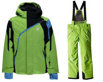 10 Boys Spyder Boys Snow Suit Ski Set Marvel Hero Hooded Jacket /& Pants,Size M