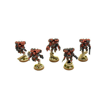 SPACE MARINES 5 vanguard veteran squad assault #1 PRO PAINTED Red Scorpions army