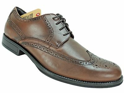 6f99ca9a220d DOCKERS MEN S MORITZ Wing-Tip Lace-Up Oxfords Tan Leather Size 11.5 M -   65.59