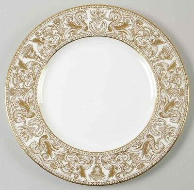 Wedgwood Florentine Gold White Rim Gold Dragons W4219 Dinner Plate(s)