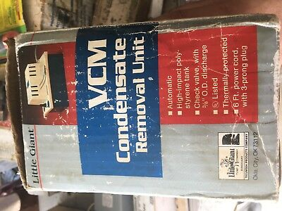 Little Giant VCM Condensate Removal Pump Unit USA New
