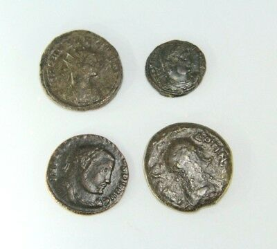 Lot Of Four Later Roman Empire Coins.   G088
