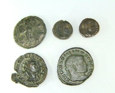 Lot Of Five Later Roman Empire Coins.   G091