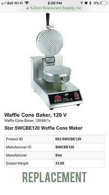 Star SWCBE Waffle Cone Maker 120 volt Commercial