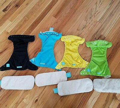 Charlie Banana One Size lot of 4 gender neutral reusable diapers