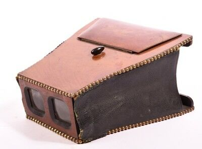 Rare stereoscopic viewer folding. Type Brewster
