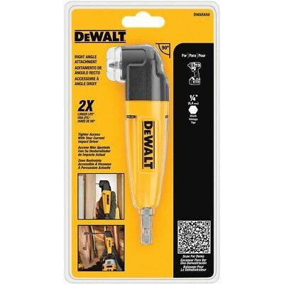 DEWALT Right Angle Drill Adapter Corded Cordless Tight Spaces Drills Attachment