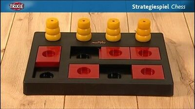 TRIXIE Dog Activity Chess, Red Yellow & Black