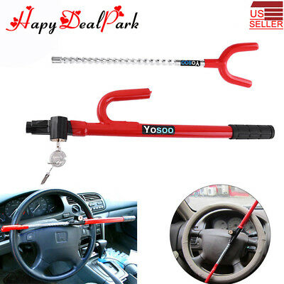 Vehicle Car Truck Universal Steering Wheel Anti-Theft Devices Security Lock Tool
