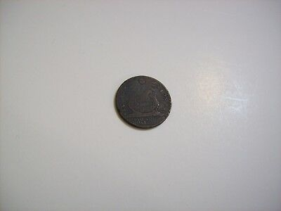 1787 Colonial Fugio Cent -  Reverse Rotated 180 Degrees - Variety 14-O