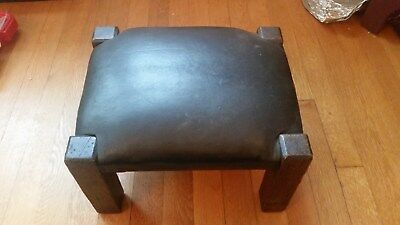 Antique mission style oak footstool  Arts and crafts era