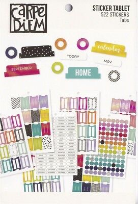 Carpe Diem - Planner Basics: Tabs - A5 Sticker Book Simple Stories