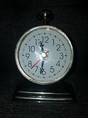 PRESTIGE Desk Clock with Compass Nautical look in the back .Very Cool