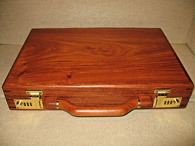 "Rosewood Atache Briefcase Lockable ""Brand New"" Hand Built Craftsmanship"