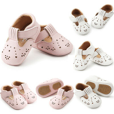 AU Baby Girl Soft Sole T- Bar Crib Shoes Toddler Mary Jane Shoes Newborn to 15M
