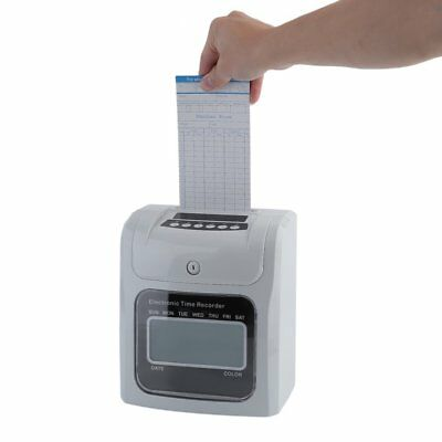 Electronic Employee AnalogueTime Attendance Clock Recorder with Time Clock Cards