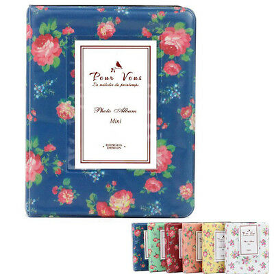 64 Pockets Flower Photo Album For Mini Fuji Instax Polaroid Card 7s 8 50s 90 EU