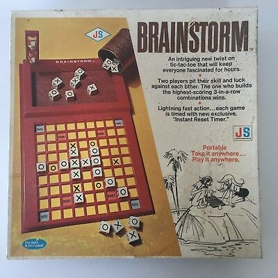 Brainstorm - Advanced Tic Tac Toe Game by John Sands 1972 - 100% Complete