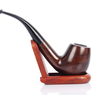 Tobacco Pipe Classic Ebony Wood Tobacco Smoking Pipes 9mm Filter Element