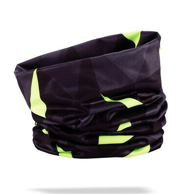 BBB BW-101 Thermal Cycling Scarf - Black / Neon Yellow Bike Scarf