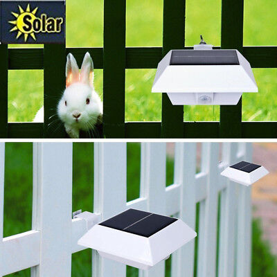 4 LED Solar Powered Motion Sensor Garden Security Gutter Spot LED Flood Light