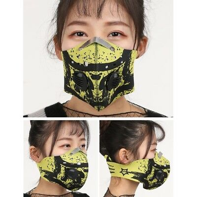 Activated Carbon Cycling Dust Proof Face Mask Anti Pollution Bike Running Shield